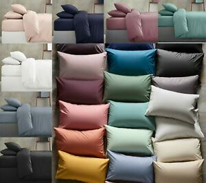 30CM EXTRA DEEP FITTED SHEETS EGYPTIAN COTTON PILLOW CASES SINGLE DOUBLE KING