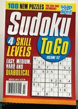 Sudoku To Go 4 Skill Levels New Puzzles Volume 117 2019 FREE SHIPPING JB