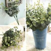 Artificial Fake Leaf Eucalyptus Plant Green Leaves Wedding Party Xmas Decor Home