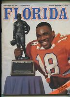 1988 Florida Gators VS Indiana State Sycamores  Football Program     MBX105