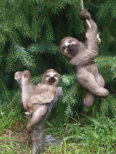 Faultier Deko Figur hängend o. stehend Tiere Wildtiere Gartendeko NEU