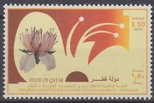 Qatar 1999 ** Mi.1164 Children with special needs Kinder Blumen Flowers Magnolie