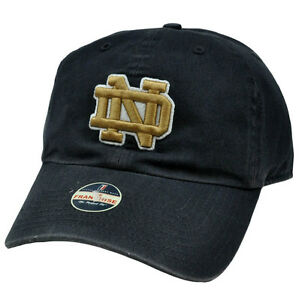 NCAA Notre Dame Fighting Irish Vintage Franchise Cap Hat Garment Washed Blue
