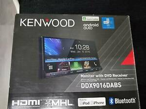 Kenwood Head Unit.  DDX9016DABS Touch screen 7 inch as new