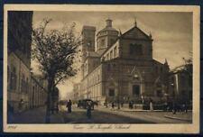 Il Cairo 1937 Cartolina 60% Usata con 2 francobolli, animata, Chiesa di Josepho
