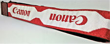 Canon logo outside the most valuable Camera Strap Red [ N.MINT+++++ SUPER CLEAN]