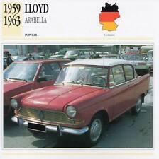 1959-1963 LLOYD ARABELLA Classic Car Photograph / Information Maxi Card