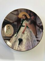 GONE WITH THE WIND COLLECTIBLE PLATE  THE GREEN SPRIGGED DRESS 1993
