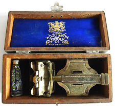 Vintage Wilkinson Sword 7-Day Razor with strop paste in Metal and Wooden Box