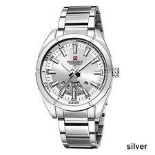 NAVIFORCE Sport Quartz 30M Waterproof Watches Men Stainless Steel Watch Silver