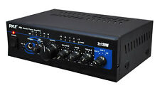 New Pyle PTA4 Mini 2x120 Watt Stereo Power Amplifier w/ AUX/CD Input Amp