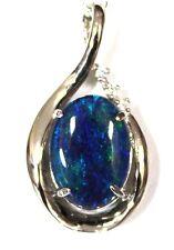 Opal Size 14x10mm Women Opal Jewelry Diamond 1solid Sterling Silver 18ct WGP