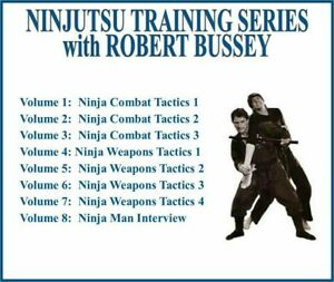 NINJUTSU TRAINING SERIES (8) DVD SET ninja combat tactics weapons