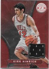 KIRK HINRICH 2012-13 PANINI TOTALLY CERTIFIED RED GAME USED JERSEY