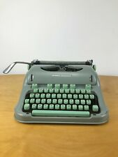 Hermes 3000 Typewriter Portable Sea Foam Green with case
