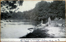 1912 Postcard: 'Idle Hour' Lake View - Freeport, Long Island, New York NY