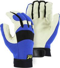 Majestic Glove Mechanics Style Pigskin Leather Velcro  2152  Large