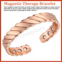 Braccialetto Magnetico Al Neodimio Terapia Rame Sollievo Dal Dolore 15000 Gauss