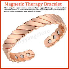 Bangle Pain Relief 15000 Gauss Magnetic Bracelet Neodymium Magnet Therapy Copper
