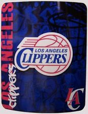 "Blanket Fleece Throw NBA Los Angeles Clippers NEW 50""x60"" with protective sleeve"