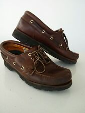 Mens Timberland brown leather loafers boat deck decking shoe US 10M UK 9.5