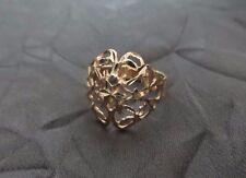 Beautiful Vintage 14K Yellow Gold Ladies Ring - Hand Wheel Cut Star Design