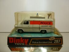 DINKY TOYS 287 FORD TRANSIT VAN - POLICE ACCIDENT UNIT - OFF-WHITE - GOOD IN BOX
