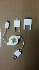 3 in 1 Retractable USB Charger Cable 30 pin lightning for apple mini usb connect