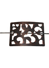 RAFFHALTER 2er Set Raffhalter für Gardinen DUBAI 11 x 16 cm BRAUN-ANTIK - NEU