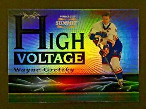 1996 Pinnacle Summit Wayne Gretzky Refractor High Voltage Hockey Card 218/1500