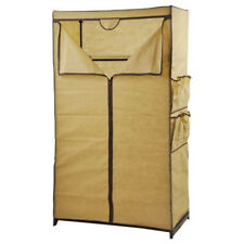 Tissu Penderie Beige Cabinet Matériau Placard pour Camping Vestiaire