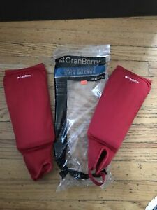 CranBarry Field Hockey Shin Guards Adult Red Team Sports Protective Gear