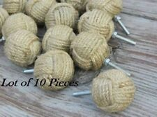 NAUTICAL HANDLE Lot of 10 Nautical Rope Jute Drawer Pull Decor Knob SALE GIFT