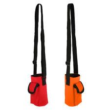 2Pcs Travel Water Bottle Carrier Insulated Cover Bag Holder w Strap & Pocket