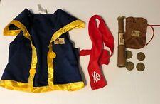 Disney Jake Neverland Pirates Costume Size Kid Sm 4-6 Kids 5 Piece Vest Etc