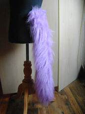 Clip in coda finta pelliccia Lilla Viola Lunga Felpe Fancy Dress Tail 28 Pollici lungo