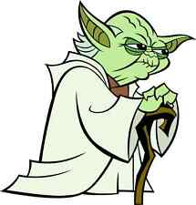 "Yoda Star Wars Cartoon Car Bumper Sticker Decal 5"" x 5"""