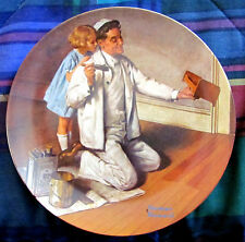 Norman Rockwell Heritage - The Painter (1983) Collector's Plate - Nm