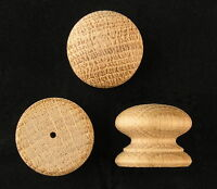 Paquet de 10 PETIT percé bois chêne poignées boutons 25MM Poignée commode en