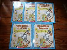 NEW Lot of 5 AMELIA BEDELIA BOOKWORM Peggy Parish GUIDED READING Lit Circle book