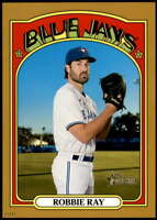 Robbie Ray 2021 Topps Heritage 5x7 Gold #358 /10 Blue Jays