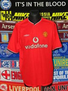 4/5 Manchester United adults M 2000 home football shirt jersey trikot soccer