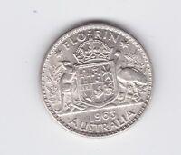 1963 Silver Florin Coin Australia W-983