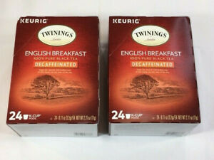 Twinings Decaffeinated English Breakfast Black Tea Keurig K-Cups - 48 Pod Count
