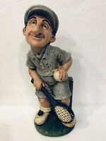 "Vintage Esco Style Chalkware Male/Man Tennis Player Statue Sports Figurine 12"""