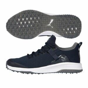 Puma Mens Fusion EVO Golf Shoes - Navy/Grey - 19385003 - New 2021