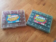 jumbo alphabet stamps. uppercase and lowercase set