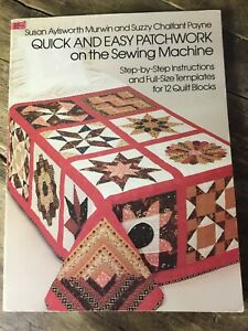 'Quick & Easy Patchwork On The Sewing Machine' By Murwin & Payne, Paperback