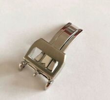 18mm Stainless Steel Silver Deployment Buckle Clasp For IWC Watches HIGH QUALITY