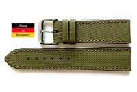 Nautilus Uhrband, Leder Uhrenarmband oliv 20, 21, 22, 24mm aus Deutschland